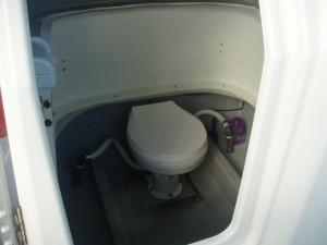 ボートのトイレ