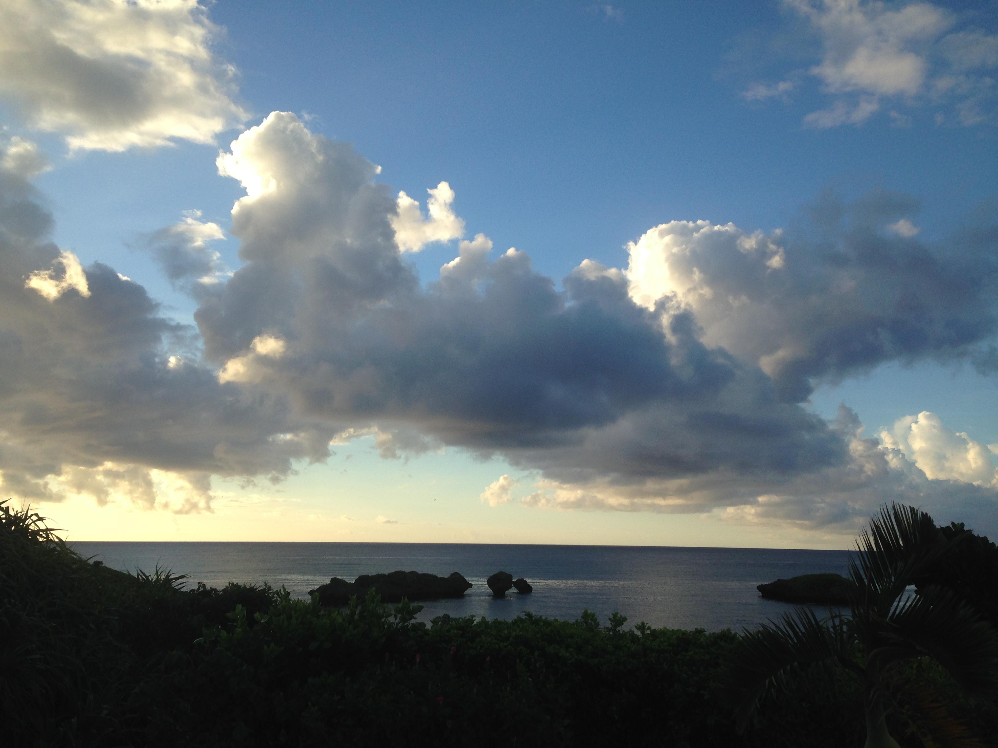 星砂の海の夕暮風景